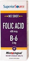Folic Acid 400mcg / B-6 3mg