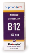 No Shot B-12 1,000 mcg (as Cyanocobalamin)