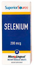 Selenium 200 mcg (from Selenomethionine 19.5 mg)