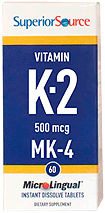 Vitamin K2 500 mcg (MK4)