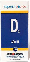 Vitamin D 400 IU <br> (as Cholecalciferol)