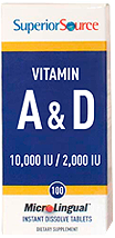 Vitamin A 10,000 IU & Vitamin D3 2,000 IU <br> (as Cholecalciferol)
