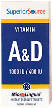 Vitamin A 10,000 IU & Vitamin D 400 IU <br> (as Cholecalciferol)