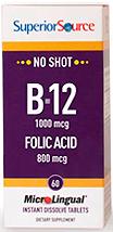 B-12 1,000 mcg (as Cyanocobalamin) / Folic Acid 800 mcg
