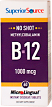 No Shot Methylcobalamin B-12 1,000 mcg