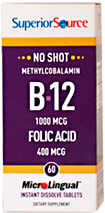 No Shot Methylcobalamin B-12/Folic Acid 400 mcg