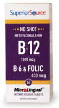 No Shot Methylcobalamin B-12 1000 mcg / B-6 / Folic Acid