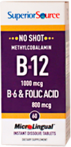 No Shot Methylcobalamin B-12 1,000 mcg / B-6 / Folic Acid 800 mcg