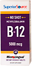 No Shot Methylcobalamin B-12 5,000 mcg