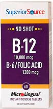 No Shot B-12 10,000 mcg / B-6 / Folic Acid 1,200 mcg