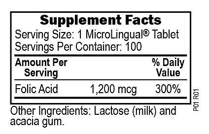 Folic Acid 1,200 mcg – Superior Source Vitamins