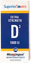 Vitamin D 5,000 IU -- Extra Strength