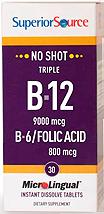 No Shot Triple B-12 9,000 mcg / B-6 / Folic Acid