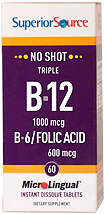Triple B-12 1,000 mcg / B-6 / Folic Acid