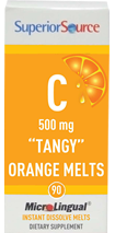 "Vitamin C, 500 mg ""Tangy"" Orange Melts"