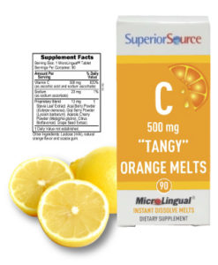 Superior Source Vitamin C Orange Tangy Melts
