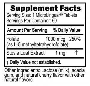 90250 Methyl Folate 1000mcg (P01 R01) 04-22-14